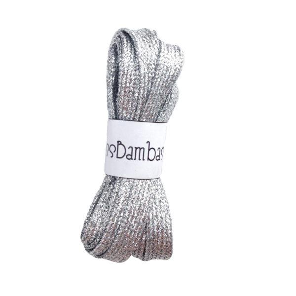 Cordones para zapatillas fantasía plata