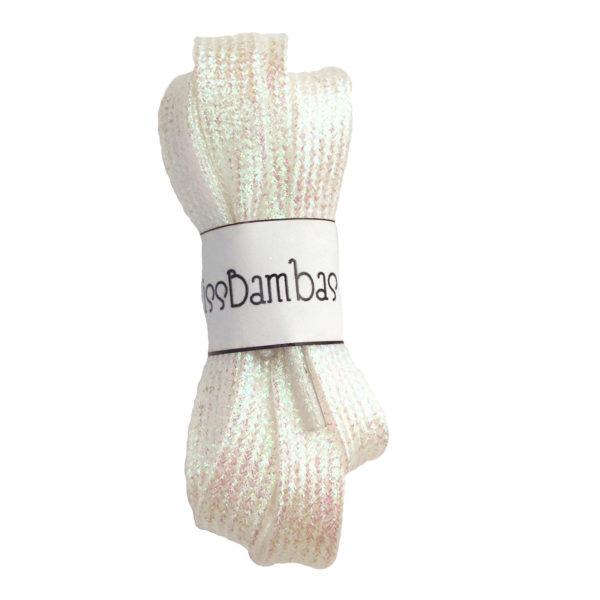 Cordones para zapatillas fantasía blancos