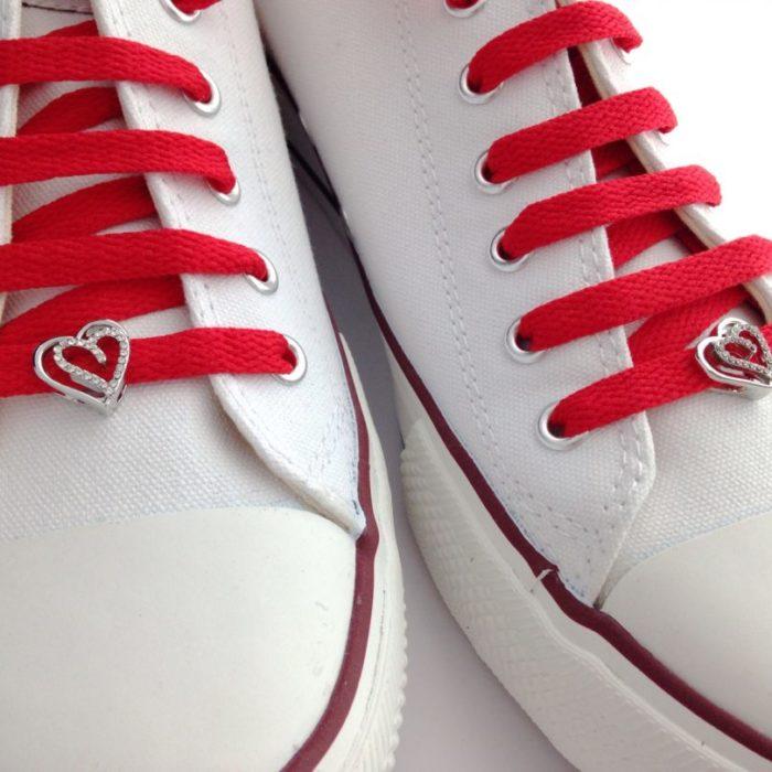 cordones zapatillas corazones cristal