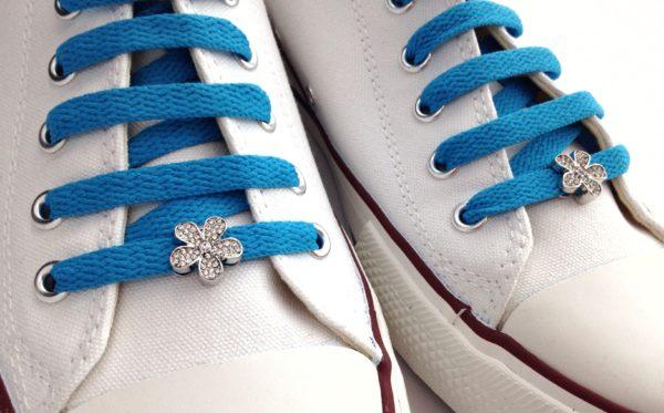 cordones zapatillas Flor cristales