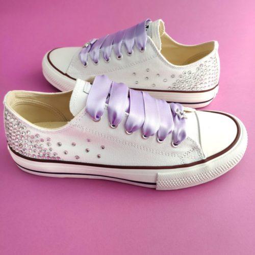 zapatillas de novia lavanda
