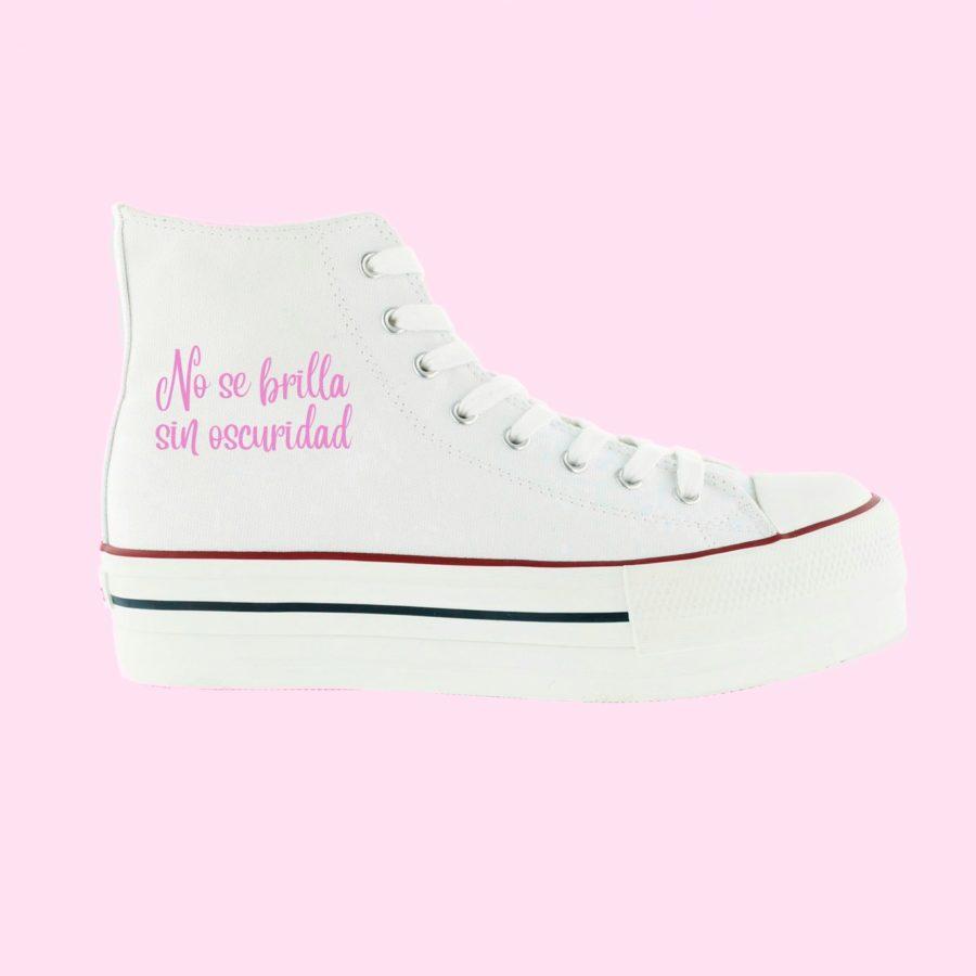 Basket doble bota blanca