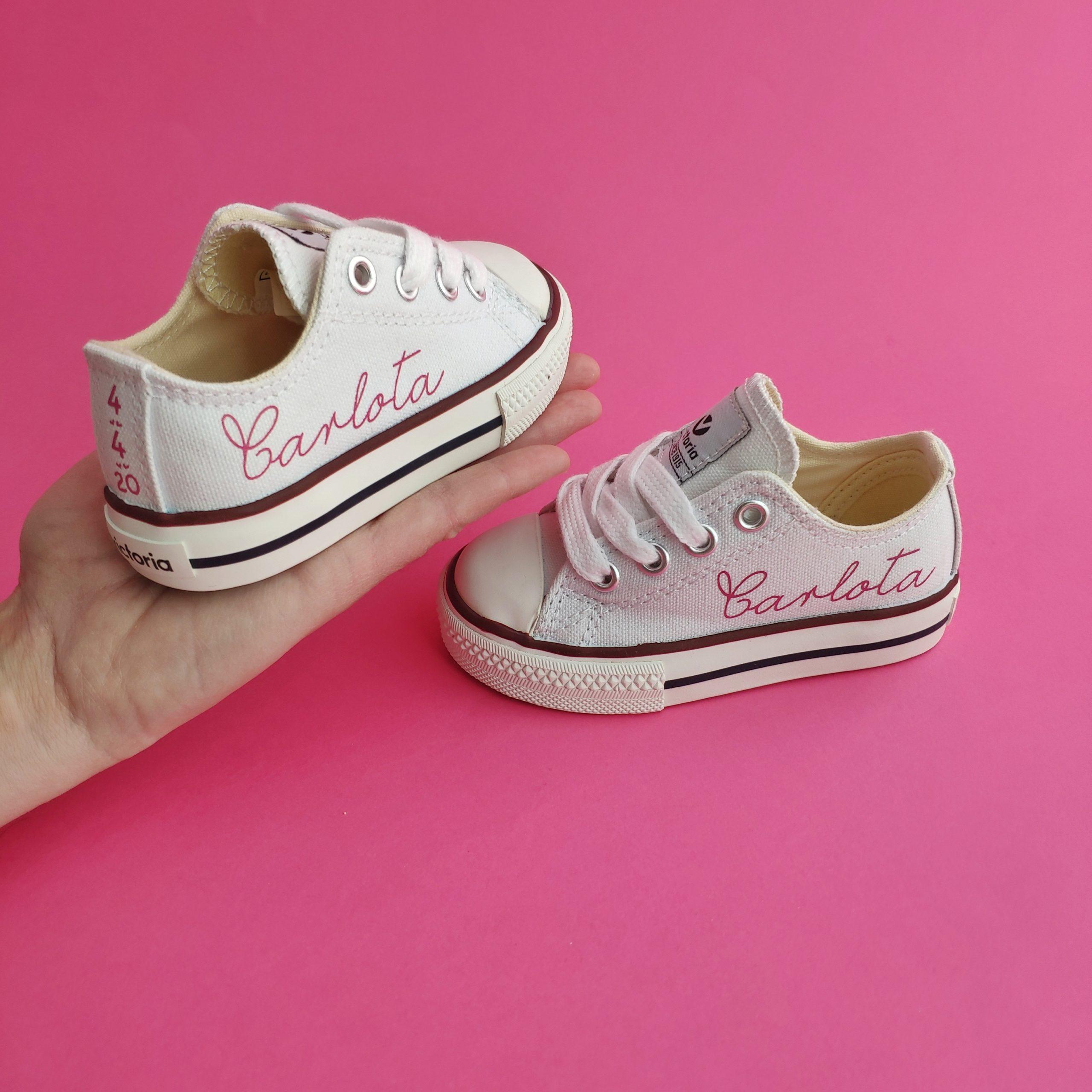 Zapatillas niños personalizadas blancas