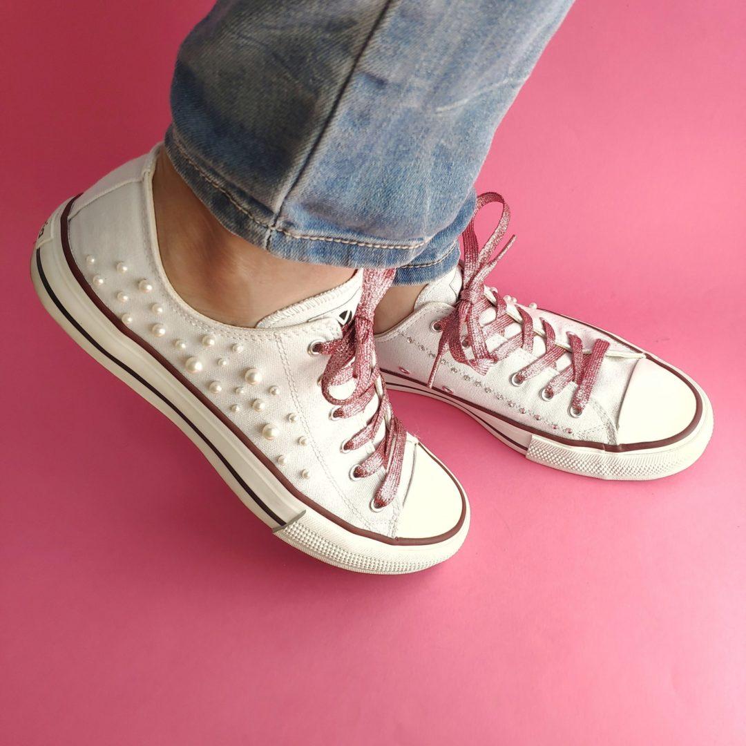 Zapatillas mujer perlas