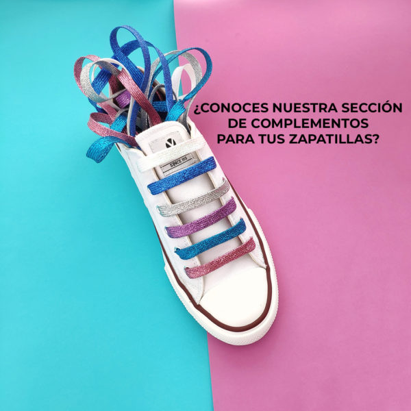 Cordones purpurina home