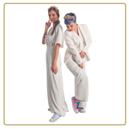 Zapatillas de novia para boda civil