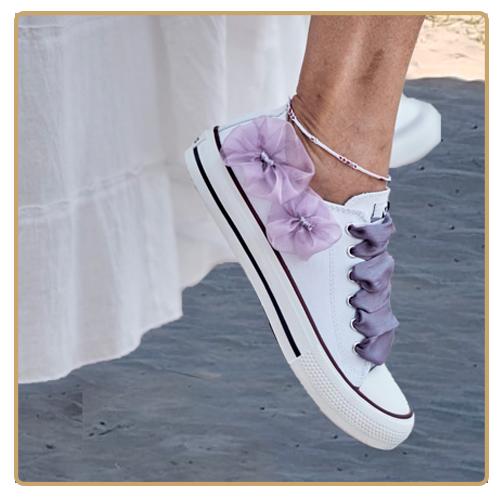 Zapatillas de novias para una boda diferente