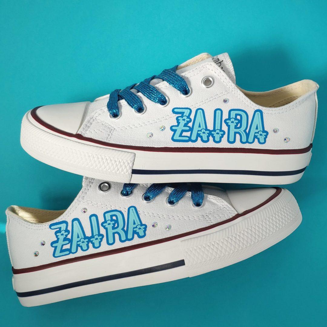 Zapatillas personalizadas con nombre a dos colores